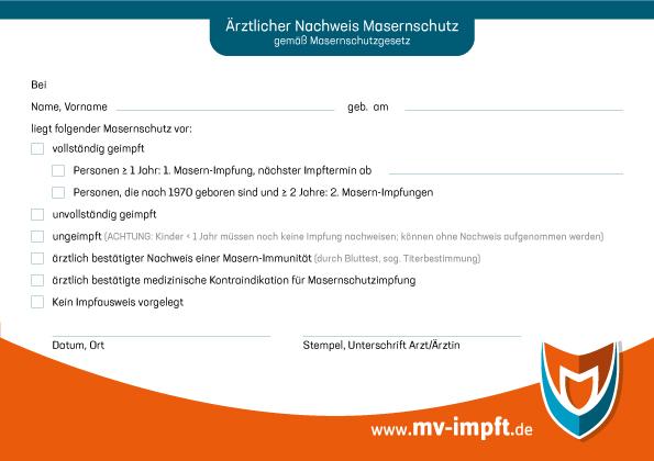 MV impft Informationsflyer